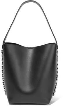 Givenchy Infinity Chain-trimmed Leather Shoulder Bag - Black