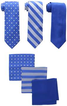 Stacy Adams 3-Pack Tie Assortment with Pocket Squares Ties