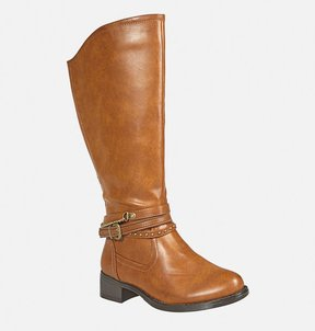 Avenue Crystal Mixed Strap Riding Boot
