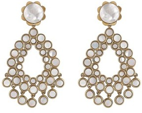 Asha Women's Flower Chandelier Earrings