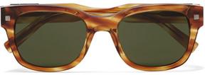Ermenegildo Zegna Square-Frame Tortoiseshell Acetate Sunglasses