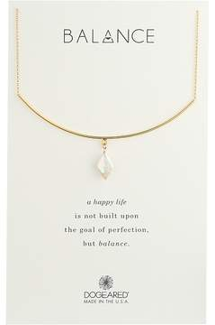 Dogeared Balance, Delicate Bar w/ Diamond Pearl Necklace Necklace