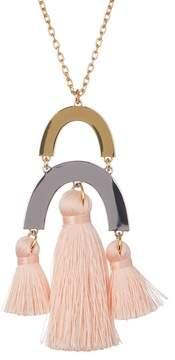 BaubleBar Shamia Tassel Pendant Necklace