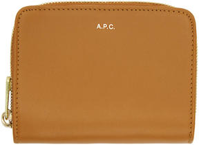 A.P.C. Tan Compact Zipped Wallet
