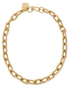 Ashley Pittman 18 Hammered Bronze Chain Necklace