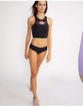 Cynthia Rowley | Cassie High Neck Bikini Top | L | Black