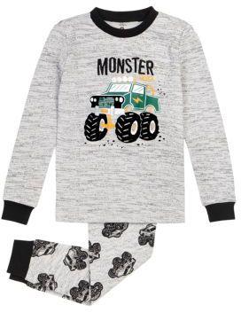 Petit Lem Little Boys Two-Piece Monster Truck Pajama Set