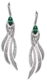 Adriana Orsini Lush Crystal Leverback Earrings