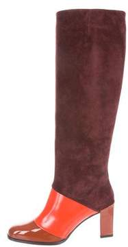 Roger Vivier Suede Knee-High Boots w/ Tags