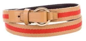 Gucci Gold-Tone Web Belt