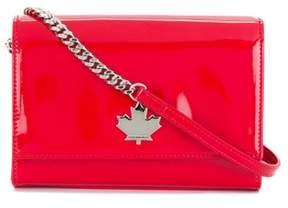 DSQUARED2 Women's Red Leather Shoulder Bag.