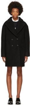 Carven Black Boule Coat