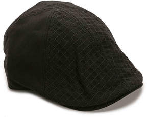 Perry Ellis Men's Stitch Top Newsboy Cap