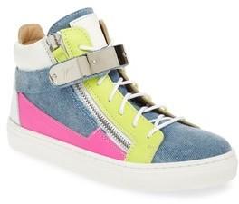 Giuseppe Zanotti Infant Girl's London High Top Sneaker