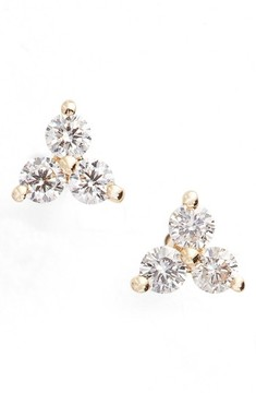 Ef Collection Women's Diamond Trio Stud Earrings