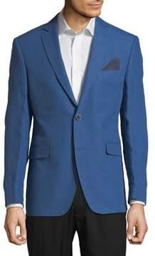 Black & Brown Black Brown Classic Slim-Fit Linen Jacket