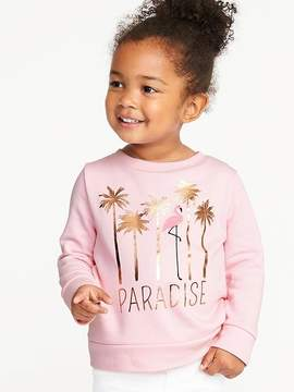 Old Navy Paradise Graphic French Terry Sweatshirt for Toddler Girls