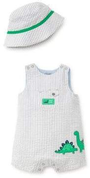 Little Me Baby Boy's Two-Piece Dinos Cotton Sunsuit and Hat Set