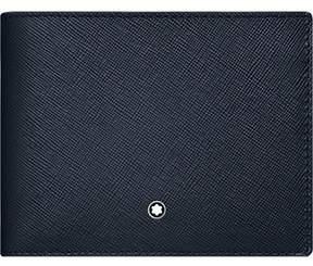 Montblanc Men's Blue Leather Wallet.