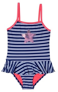 Hula Star Toddler Girl's Retro Stripe One-Piece Swimsuit