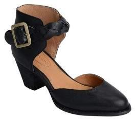 Corso Como Burlap Leather Ankle-Strap Pumps