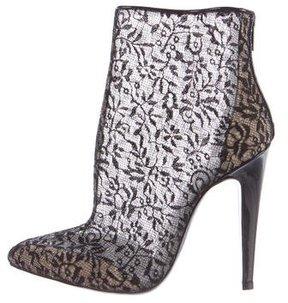 Bottega Veneta Lace Pointed-Toe Booties