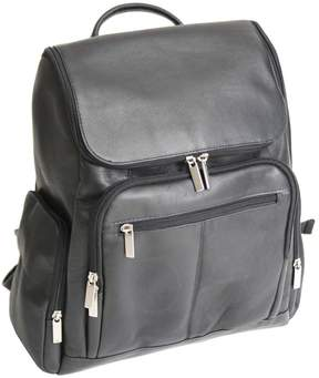 Royce Leather Royce Executive 13 Handcrafted Colombian Leather Laptop Backpack - Black