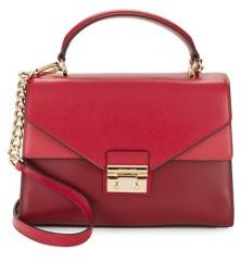 MICHAEL Michael Kors Flap Leather Satchel - RED - STYLE