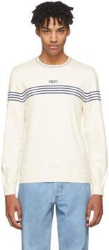 A.P.C. Off-White Striped Logo Pullover