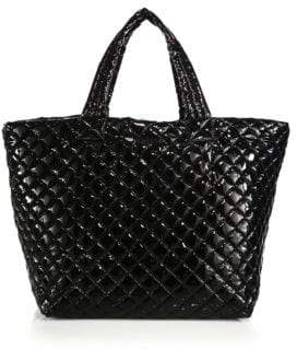 MZ Wallace Metro Large Lacquered Quilted Nylon Tote