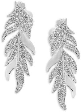 Adriana Orsini Women's Mday Pavé Leaf Earrings