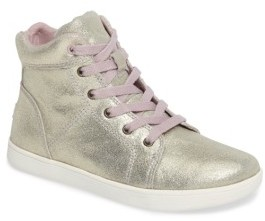 UGG Girl's Schyler Metallic High Top Sneaker