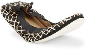 Yosi Samra Women's Fur & Leather Slip-On Flats