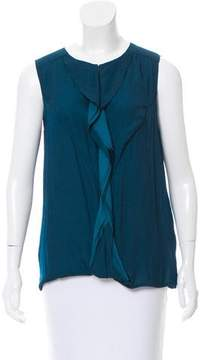 Closed Sleeveless Draped Top