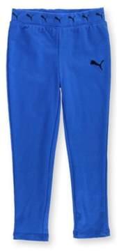 Puma Girls Logo Waist Casual Leggings Blue XXS/15 - Little Kids (4-7)