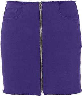 Cotton Citizen Zip Detail Purple Mini Skirt