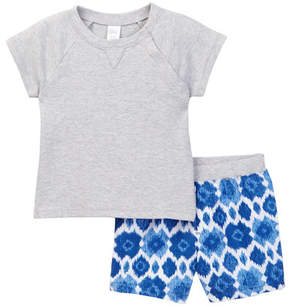 Nordstrom Short Sleeve Raglan & Short 2-Piece Set (Baby Boy)