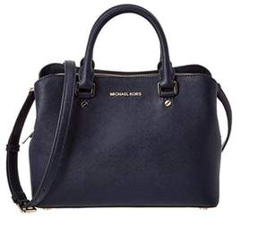 Michael Kors Savannah Medium Admiral Blue Satchel Handbag - ADMIRAL - STYLE