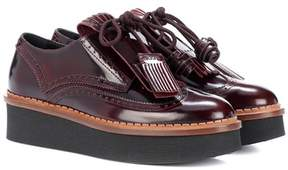 Tod's Platform patent leather brogues