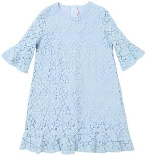 Il Gufo Cotton Macramé Lace Party Dress