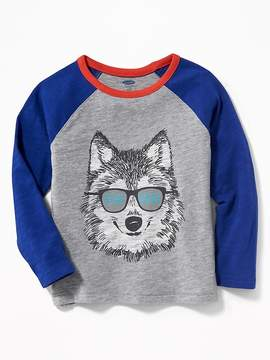 Old Navy Graphic Raglan-Sleeve Tee for Toddler Boys