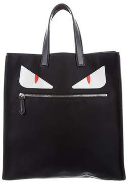 Fendi Leather-Trimmed Monster Tote