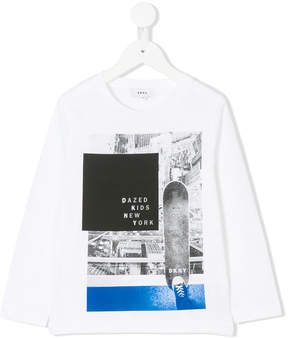 DKNY skateboard photographic print top