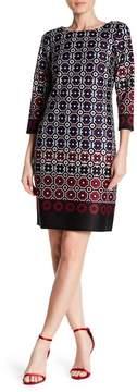 Nine West Print Scuba Shift Dress