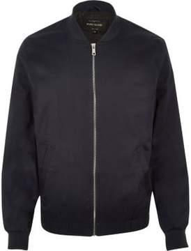River Island Mens Navy bomber jacket