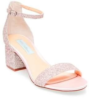 Betsey Johnson Jayce Glitter Block Heel Sandal
