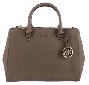 MICHAEL Michael Kors Sutton Leather Satchel - BROWN - STYLE
