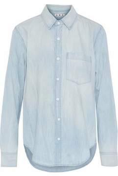 Amo Prep Distressed Cotton-Chambray Shirt