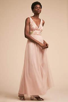 Anthropologie Hibiscus Wedding Guest Dress