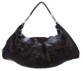 Alice + Olivia Leather Grained Hobo Bag